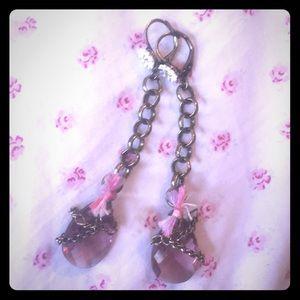 Betsey Johnson drop jewel earrings